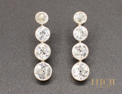 Boucles d'Oreilles Pendantes Diamants