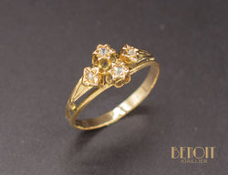 Bague XIXe Or Diamants