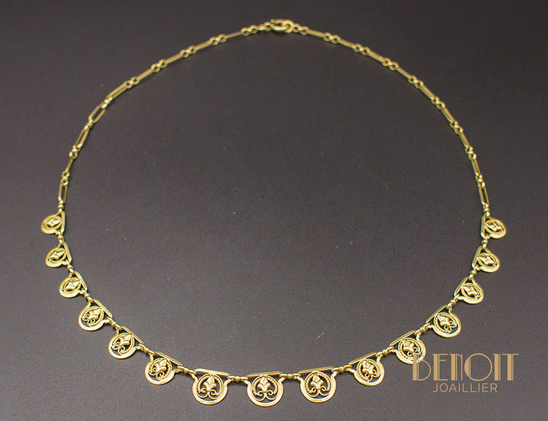 Collier Draperie Or Jaune