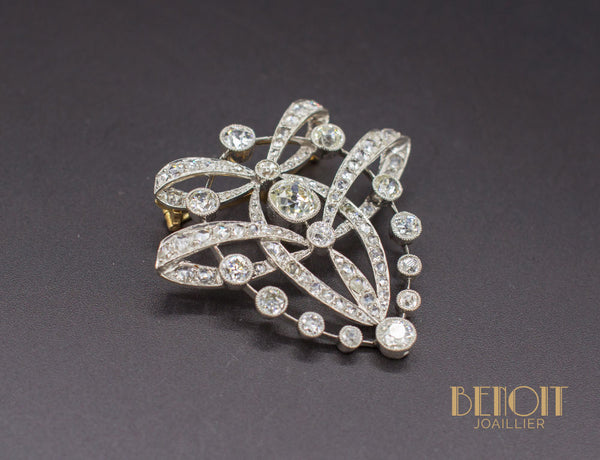 Broche 1900 Diamants