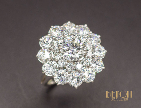 Bague Marguerite Double Entourage