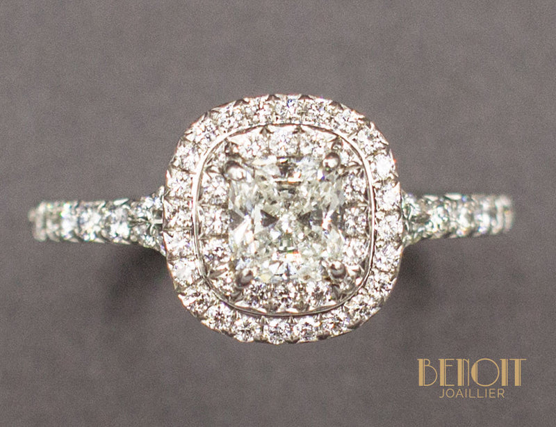 "Bague Tiffany & Co ""Soleste"" Platine Diamants"