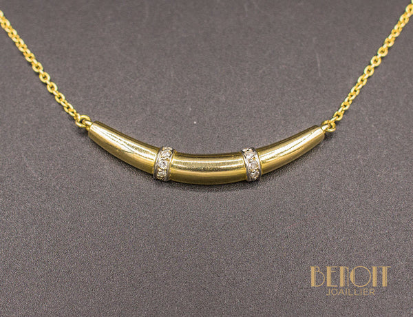 Collier Croissant Or et Diamants