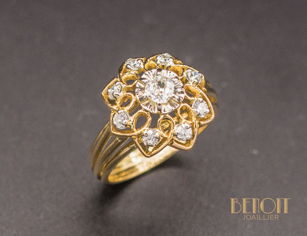 Bague Fleur 1950 Diamants
