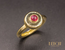 Bague Vintage Rubis Or