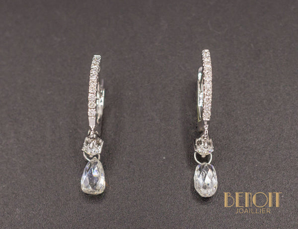 Boucles d'Oreilles Modernes Diamants