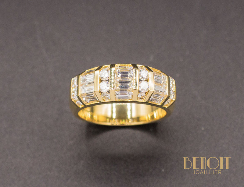 Bague Jonc Moderne Diamants
