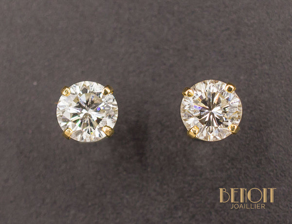 Puces Diamants 2x 0,85ct