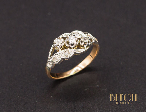 Bague 1900 Trilogie de Diamants