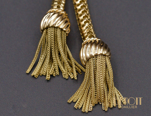 Collier Pompons 1950 en Or Jaune 750/1000e