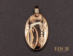 "Pendentif Cartier ""Happy Birthday"" Or Rose"