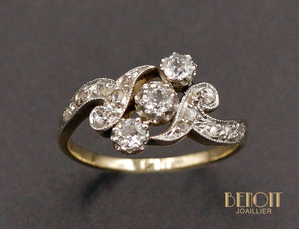 Bague Trilogie Diamants 1900