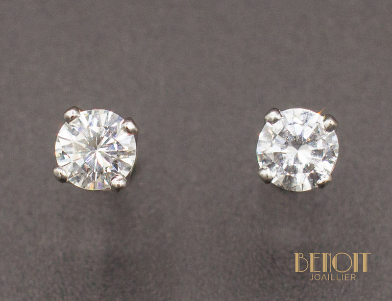 Boucles d'Oreilles Diamants 0,45 ct