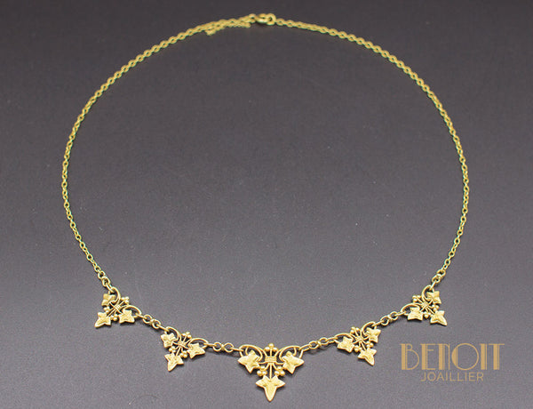 "Collier Draperie ""Lierre"" Or Jaune"