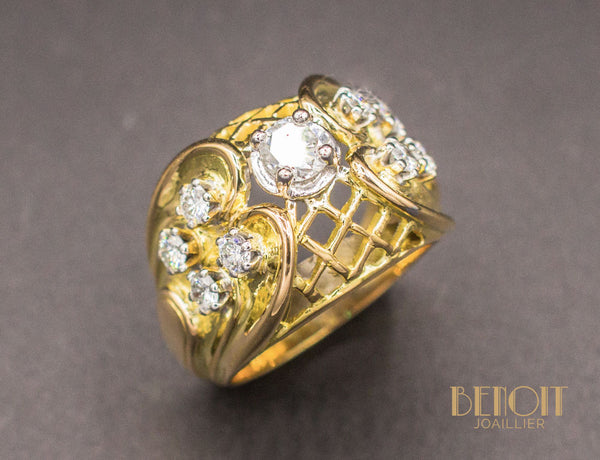 Bague Cocktail 1950 Diamants