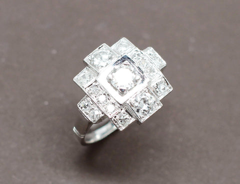Bague emeraude Diamants