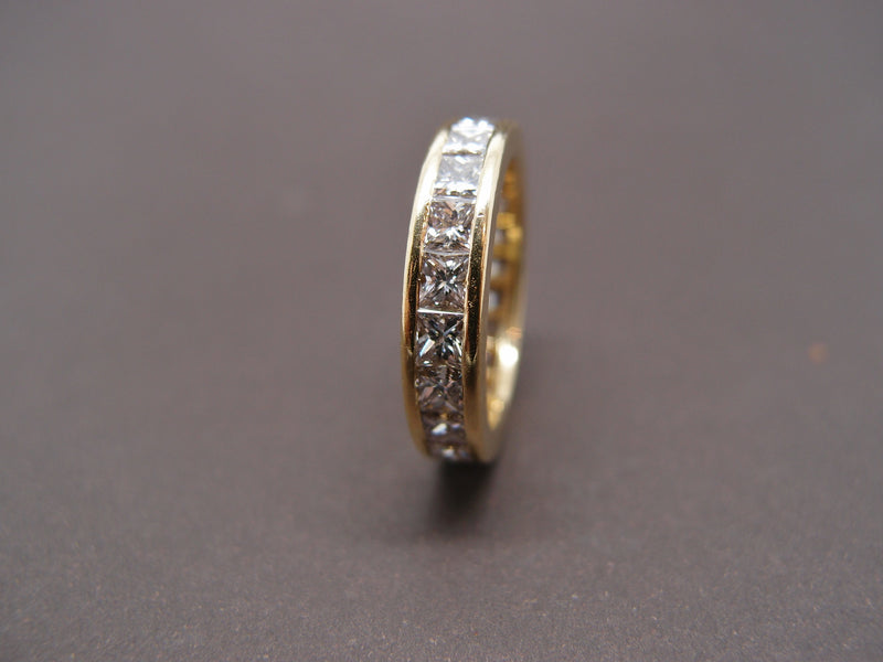 Alliance Diamants Princesse 4.41 cts or jaune ,taille 57