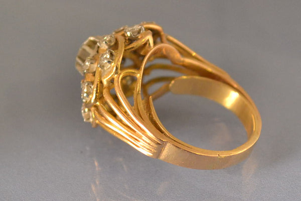 Bague 1950 diamants et or jaune