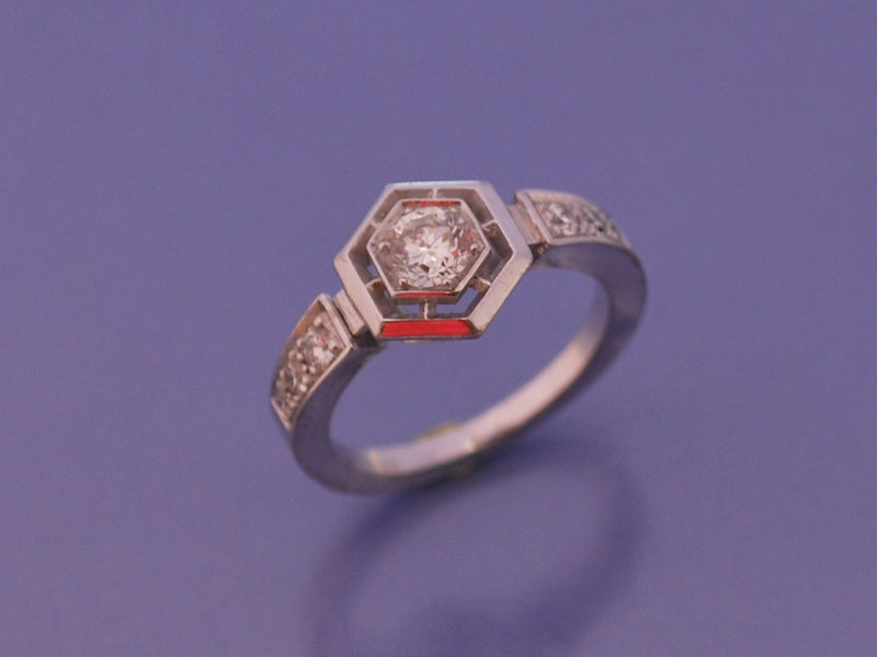 "Bague diamants ""Benoit joaillier"""