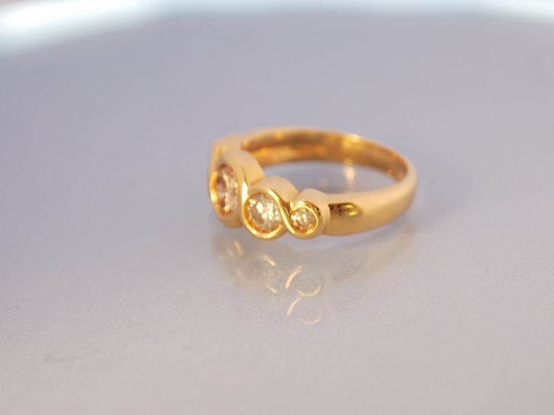 Bague Diamants et or jaune