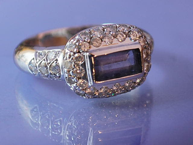 Bague diamants et tanzanite