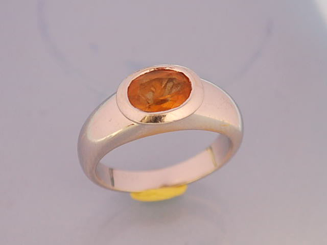 Bague poiray or blanc citrine