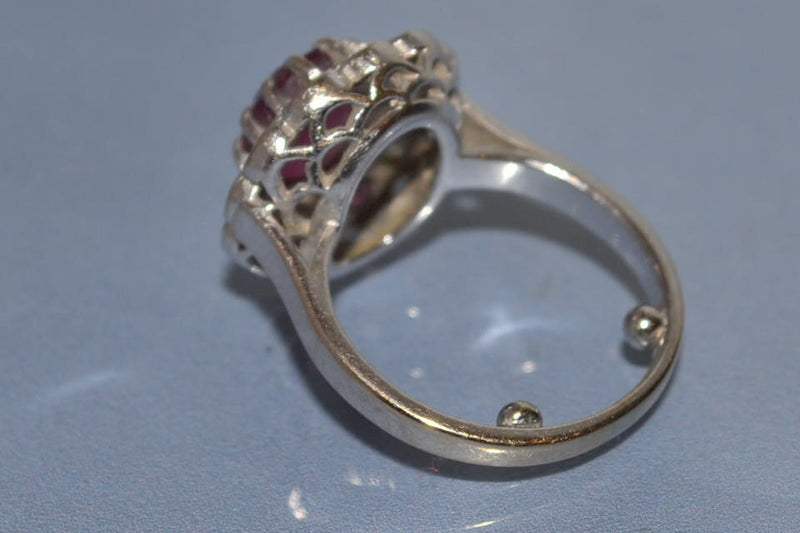 Bague rubis diamants et or