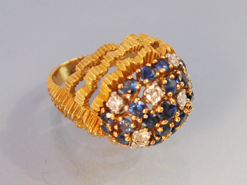 Bague saphirs et diamants 1950