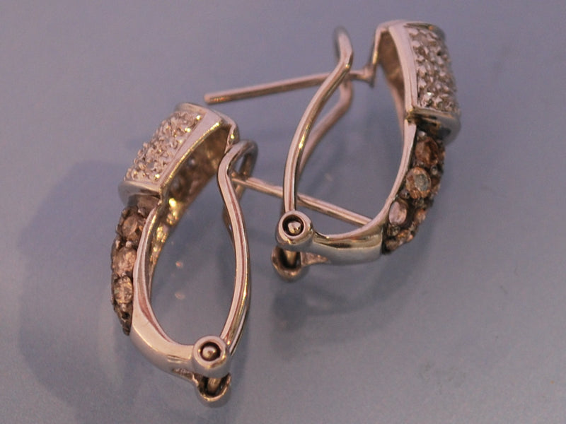 Boucles d oreille diamants cognac