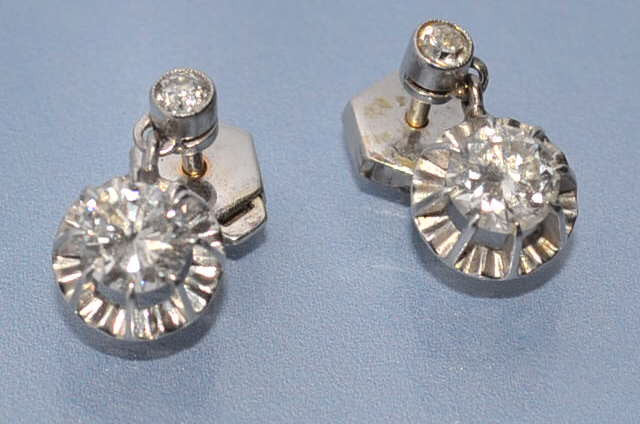 Boucles d'oreille diamants 1,2 carat