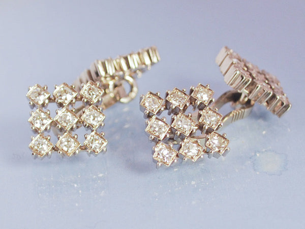 Boutons de Manchette Vacheron Constantin, Or et diamants