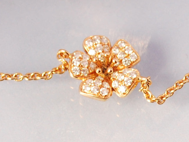 Bracelet fleur de diamants et or rose