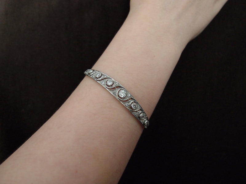 bracelet platine et diamants vers 1920