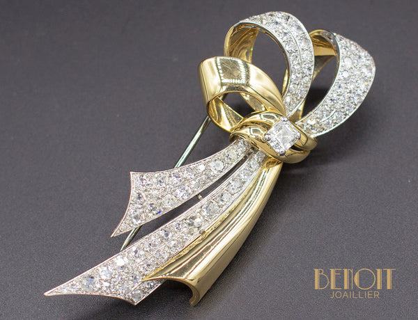 Broche Chaumet 1950 Diamants