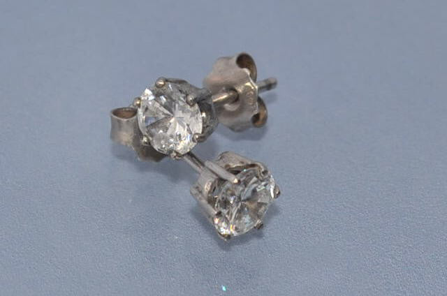 Clous d'oreille diamants 1 carat