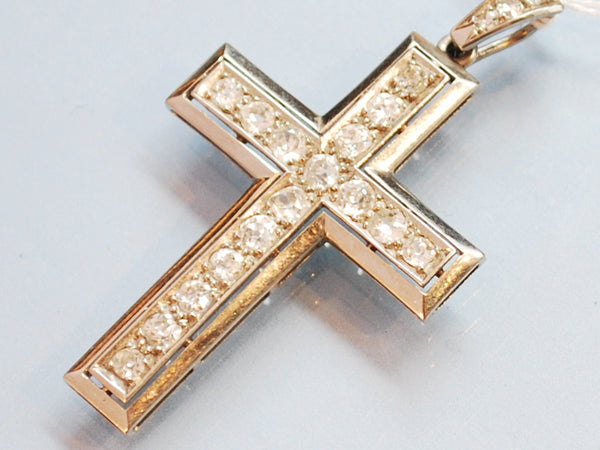 Croix en diamants et or 18 carats