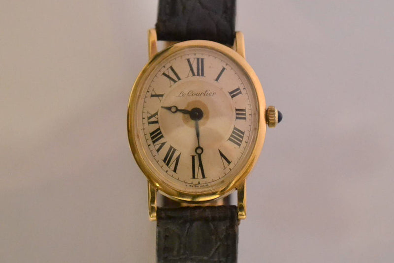 Montre Ovale Or Jaune