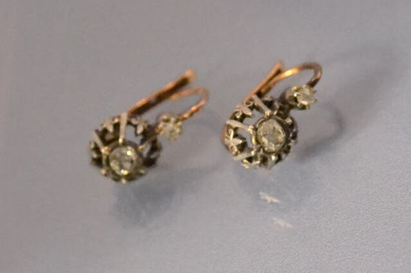 Puce d'oreille Diamants époque 1900