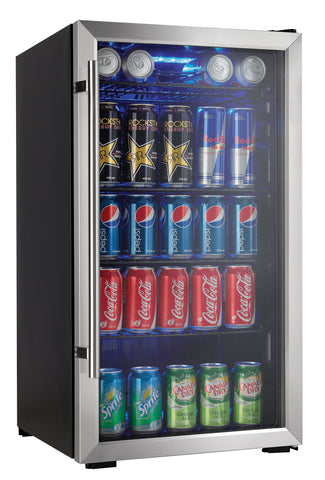 DBC93BLSDD - 120 Can Beverage Center - Stainless Steel