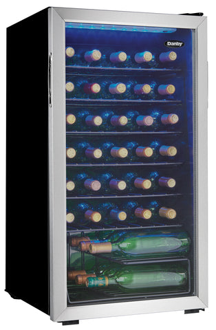 DWC036A1BSSDB-6 - 36 Bottle Wine Cooler - Stainless Steel