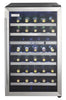 DWC114BLSDD - 38 Bottle Wine Cooler - Stainless Steel