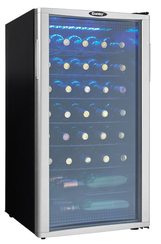 DWC350BLP - 35 Bottle Wine Cooler -  Platinum with Black Sides
