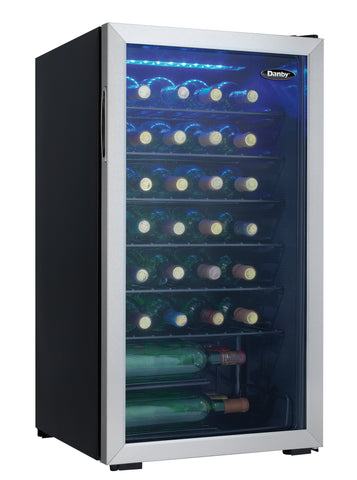 DWC93BLSDB - 36 Bottle Wine Cooler - Stainless Steel