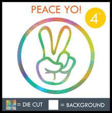 "Load image into Gallery viewer, HAZE ""PEACE YO"" DECAL"