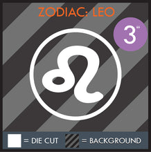 Load image into Gallery viewer, HAZE DECALS - ZODIAC SERIES - MULTI-SIZE - WHITE