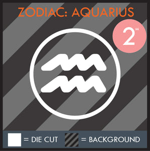 HAZE DECALS - ZODIAC SERIES - MULTI-SIZE - WHITE