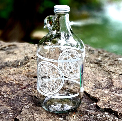 FLOWER OF LIFE JUG 64 OZ - Vibe Bottle