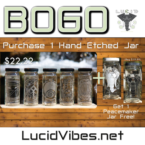 THIS WEEKS SPECIAL! ETCHED BOGO 16 OZ JARS