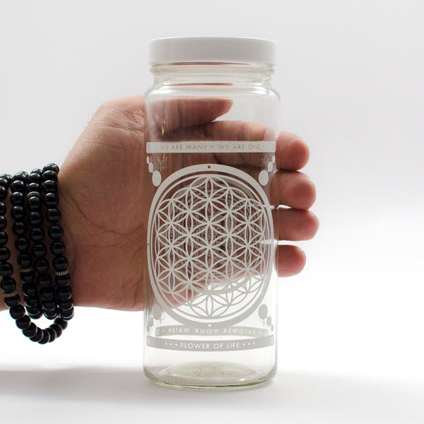 FLOWER OF LIFE UNITY JAR - IN STOCK NOW! - Vibe Bottle