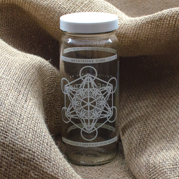16 oz. Metatron's Cube Drinking Jar
